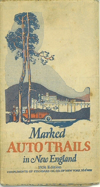 Marked Auto trails in New England 1924 Edition