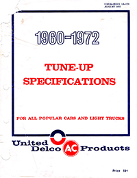 1960-1972 Tune Up Specifications