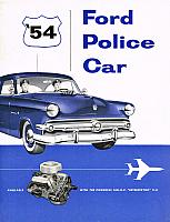 1954 Ford Police Car Brochure