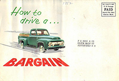 1954 Ford F100 mailer