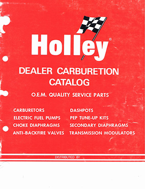 Holley carb kit and parts catalog - 1971