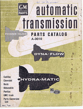 GM Automatic Transmission Parts Catalog (1950s)