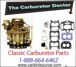 Classic carb kits, parts and floats by The Carburetor Doctor