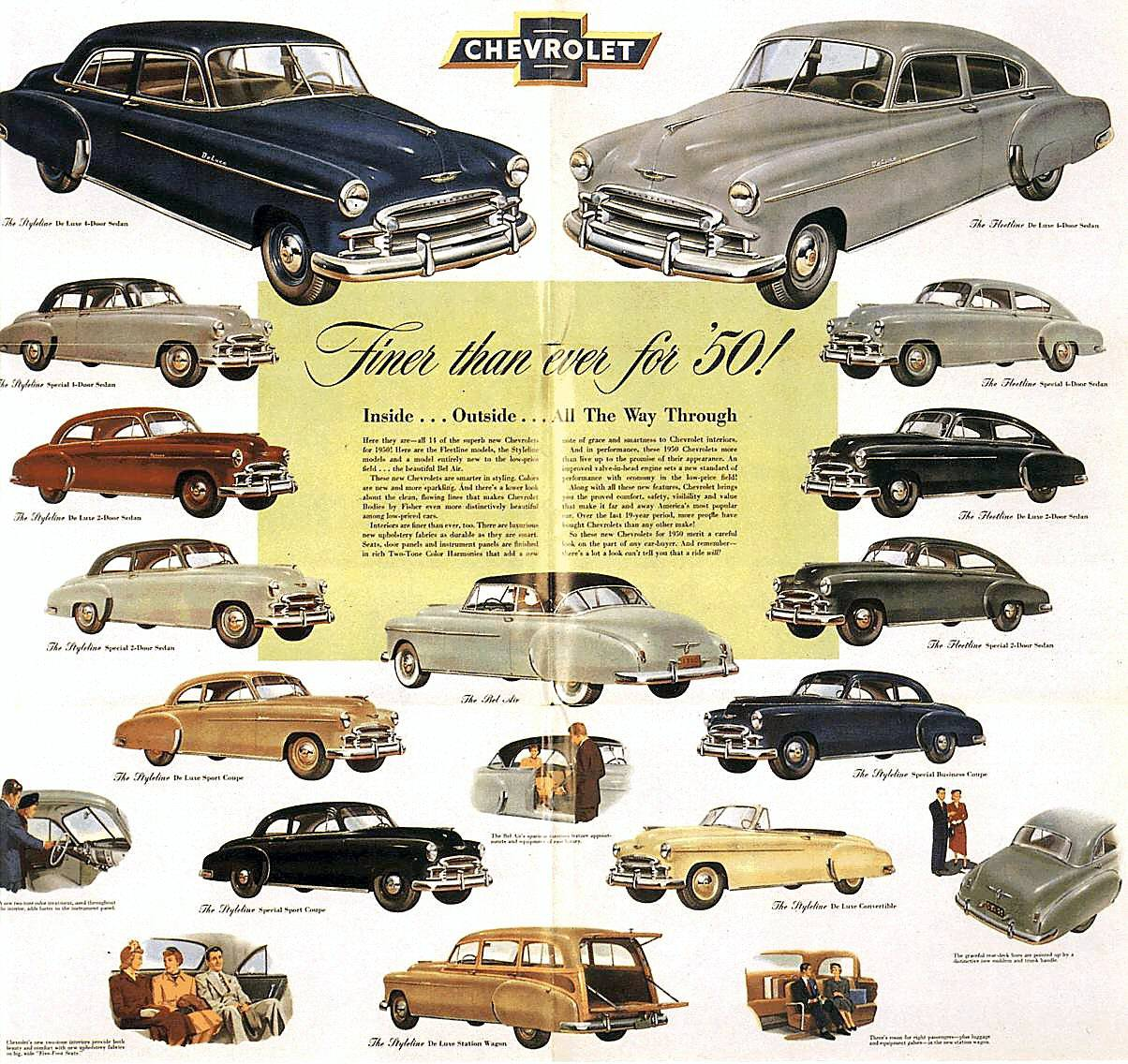 1950 Chevrolet brochure The Old Car Manual Project – Old Car Brochure