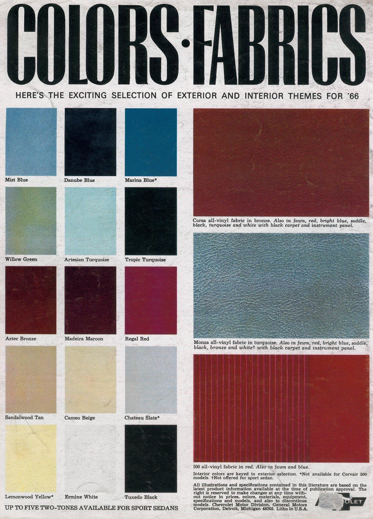 1966 Corvair Brochure