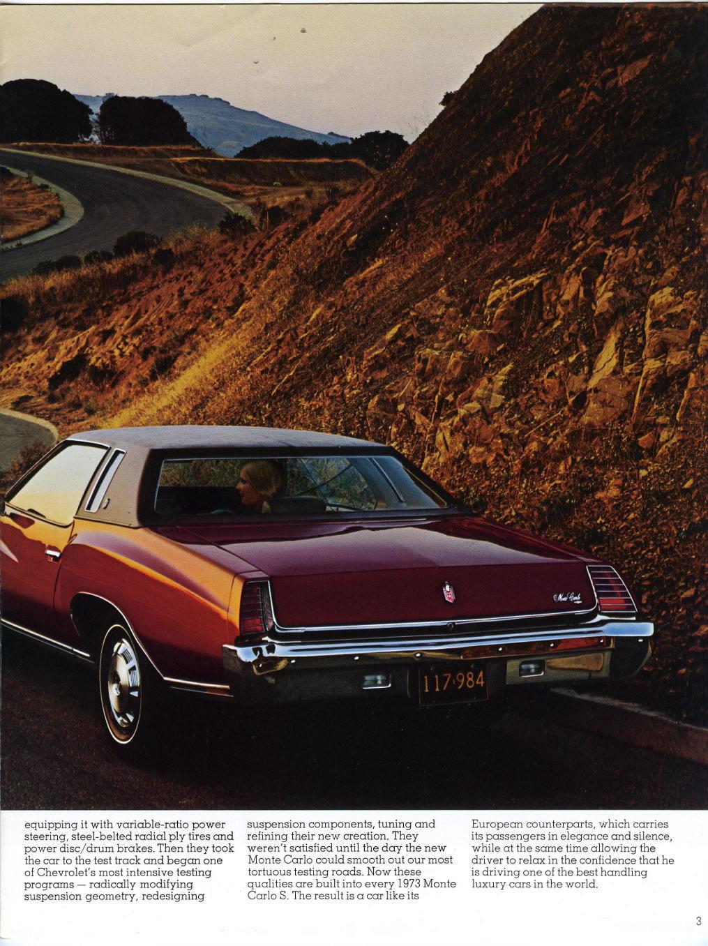 1973 chevrolet monte carlo brochure 39 73chevy. Black Bedroom Furniture Sets. Home Design Ideas