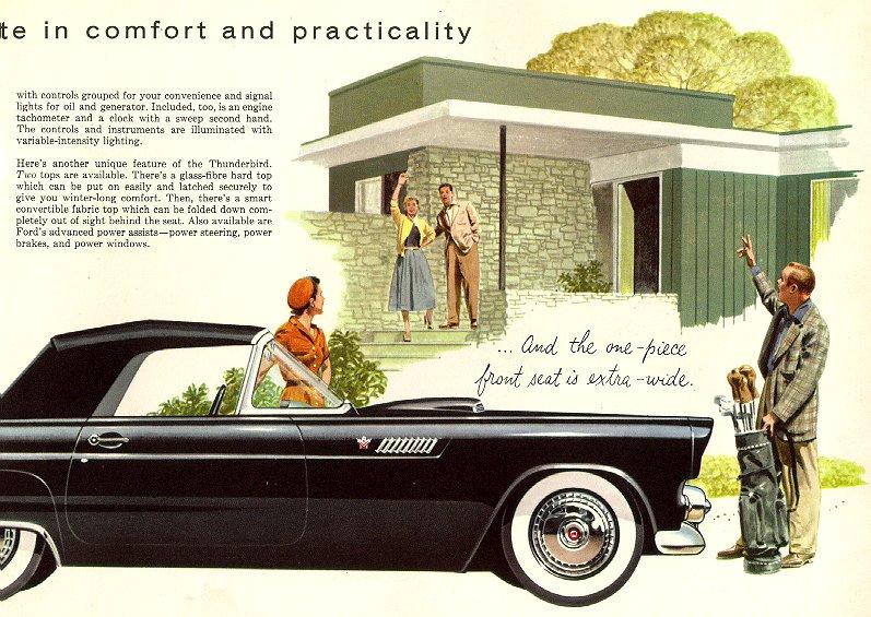 1955 thunderbird brochure
