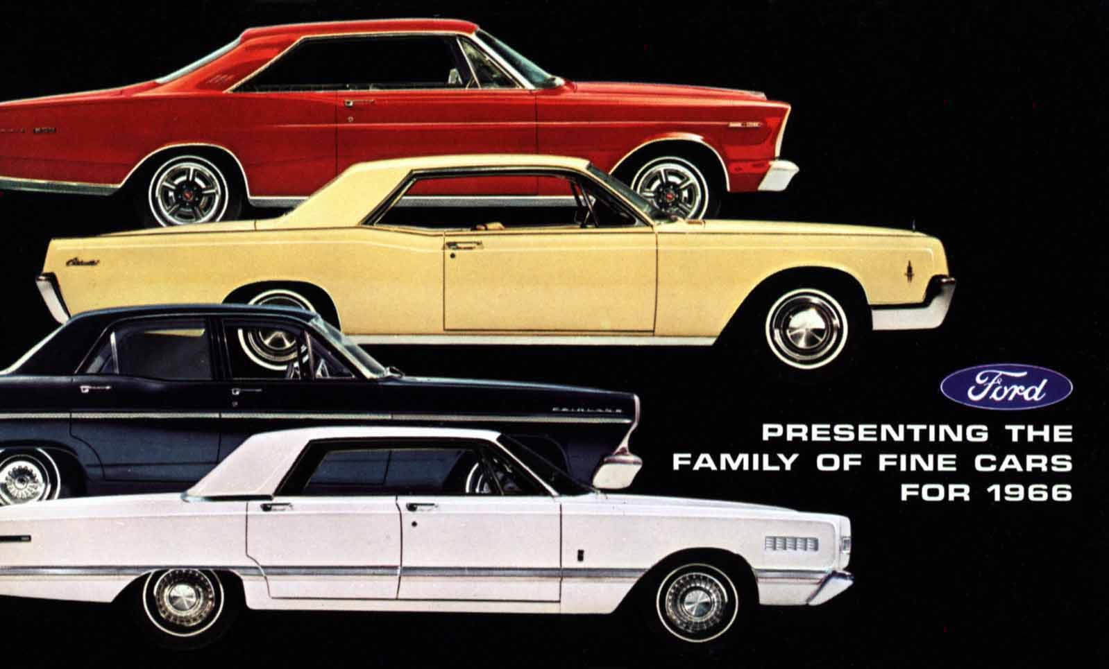 Cars On Line >> 1966 Ford Full Line Brochure