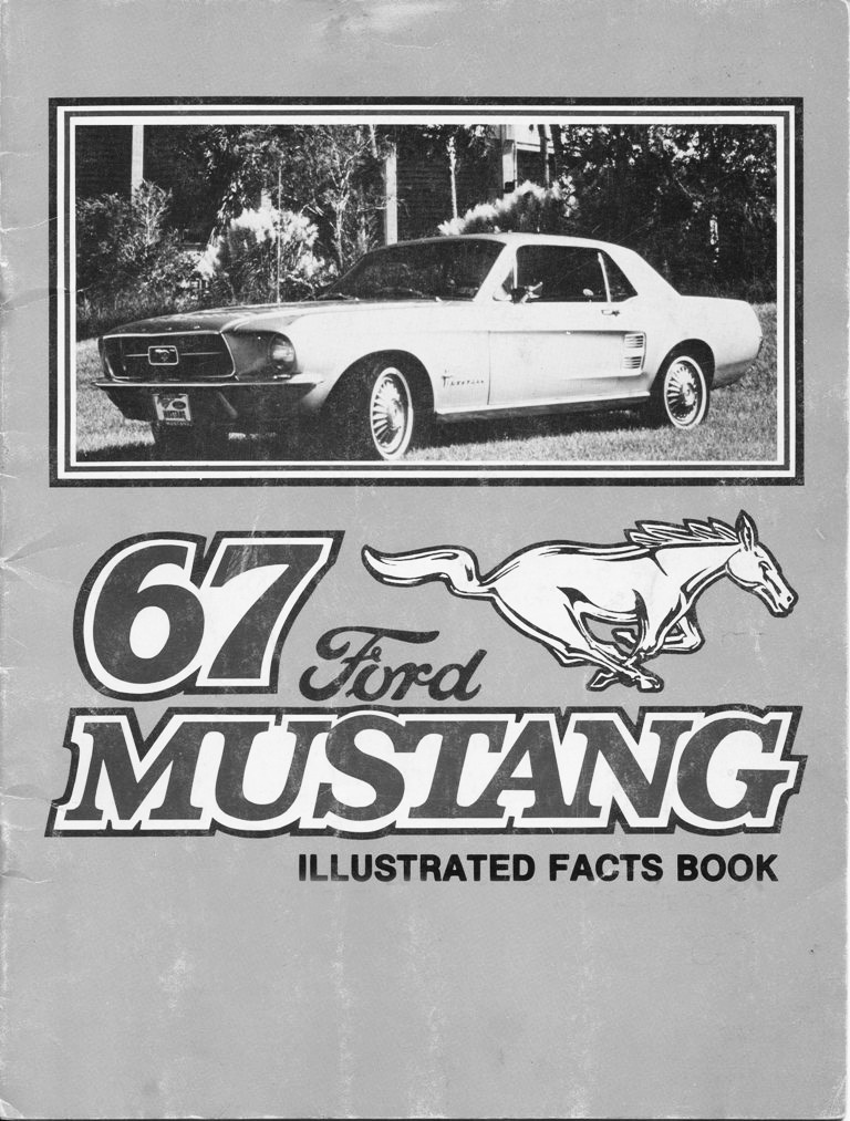 1967 mustang illustrated book of facts page 1 of 29