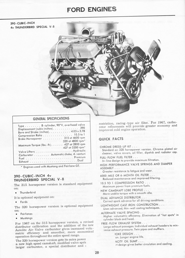 1967 mustang illustrated book of facts page 27 of 29