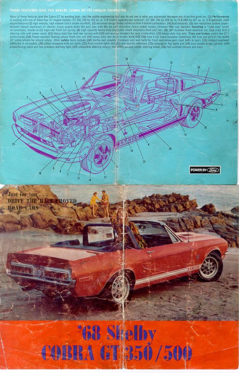 1968 Shelby Mustang Brochure Shelby 12 Jpg