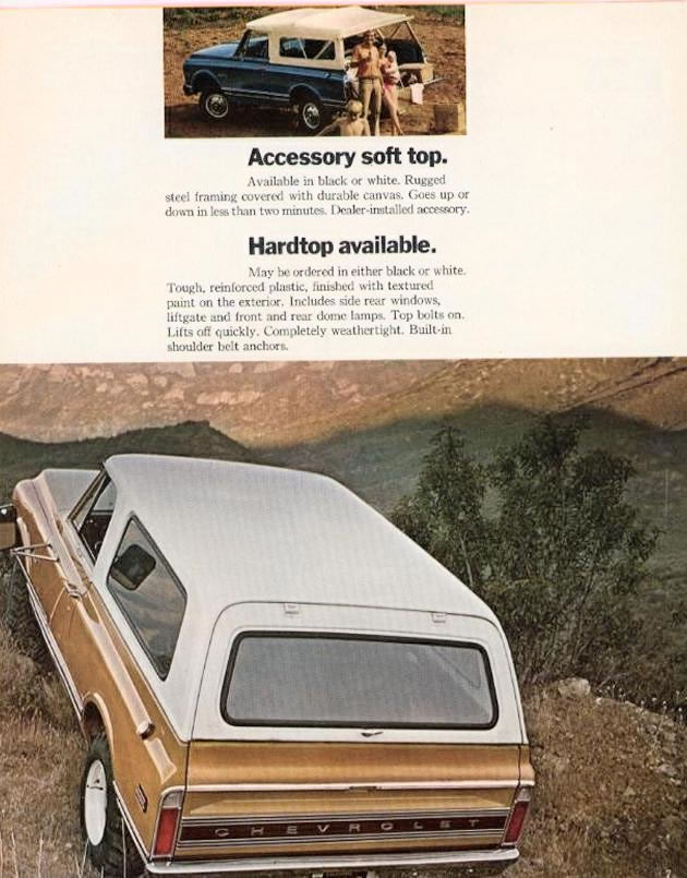 1972 Chevrolet And Gmc Truck Brochures 1972 Chevy Blazer