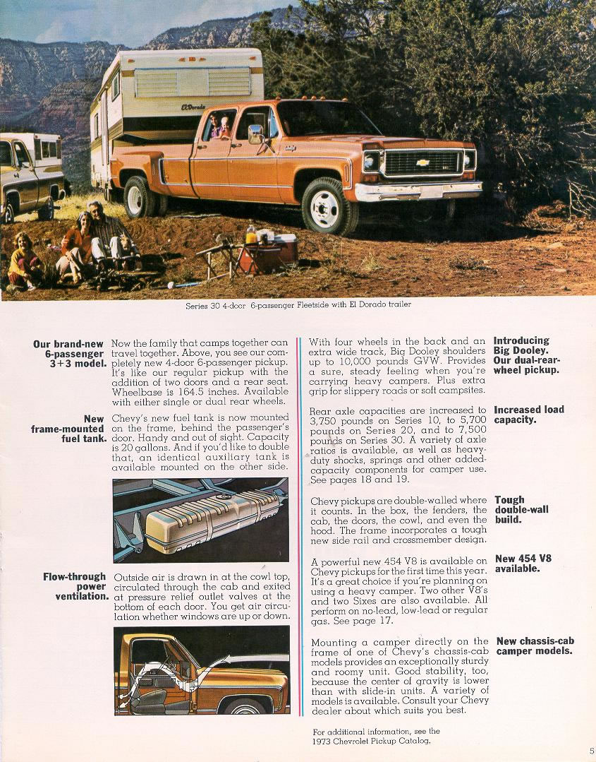 1973 Chevrolet And Gmc Truck Brochures 1973 Chevy