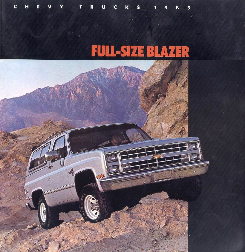 1985 Chevrolet and GMC Truck Brochures / 1985 Chevy Blazer ...