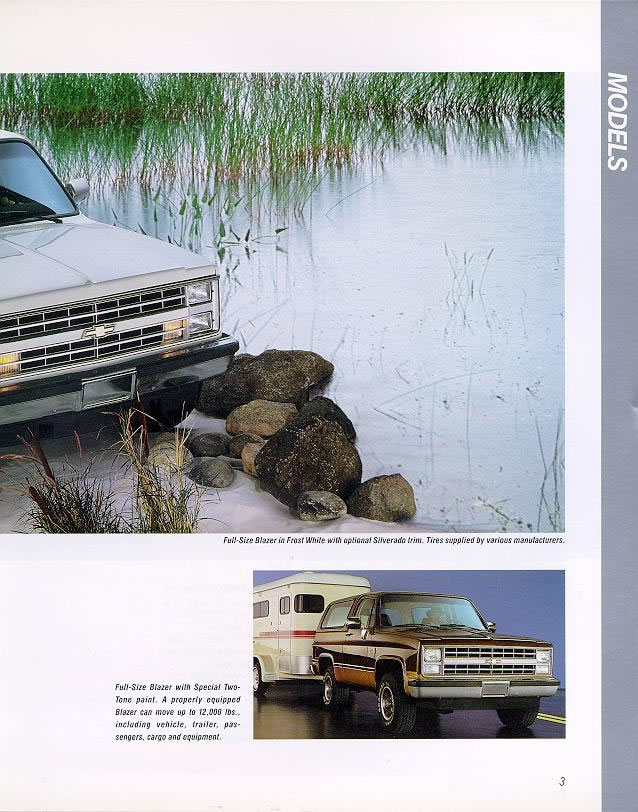 Chevy Car Old >> 1988 Chevrolet and GMC Truck Brochures / 1988 Chevy Blazer-05.jpg