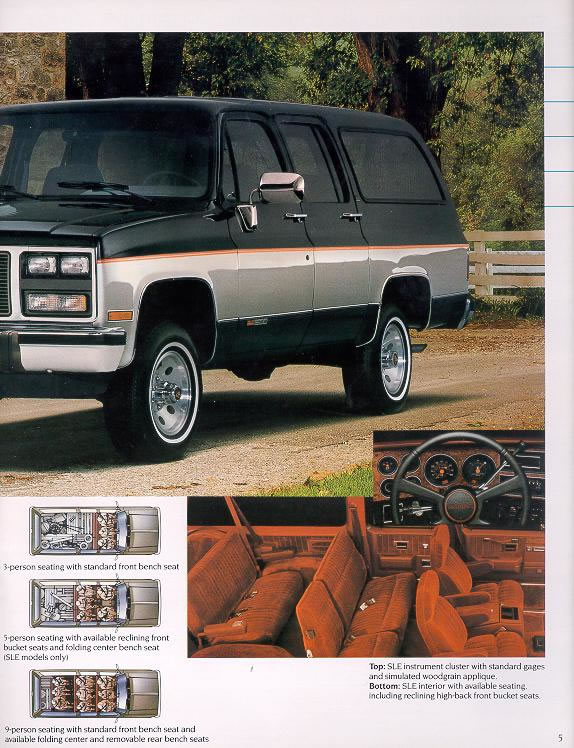 1991 Chevrolet and GMC Truck Brochures/1991 GMC Jimmy and Suburban-05 ...