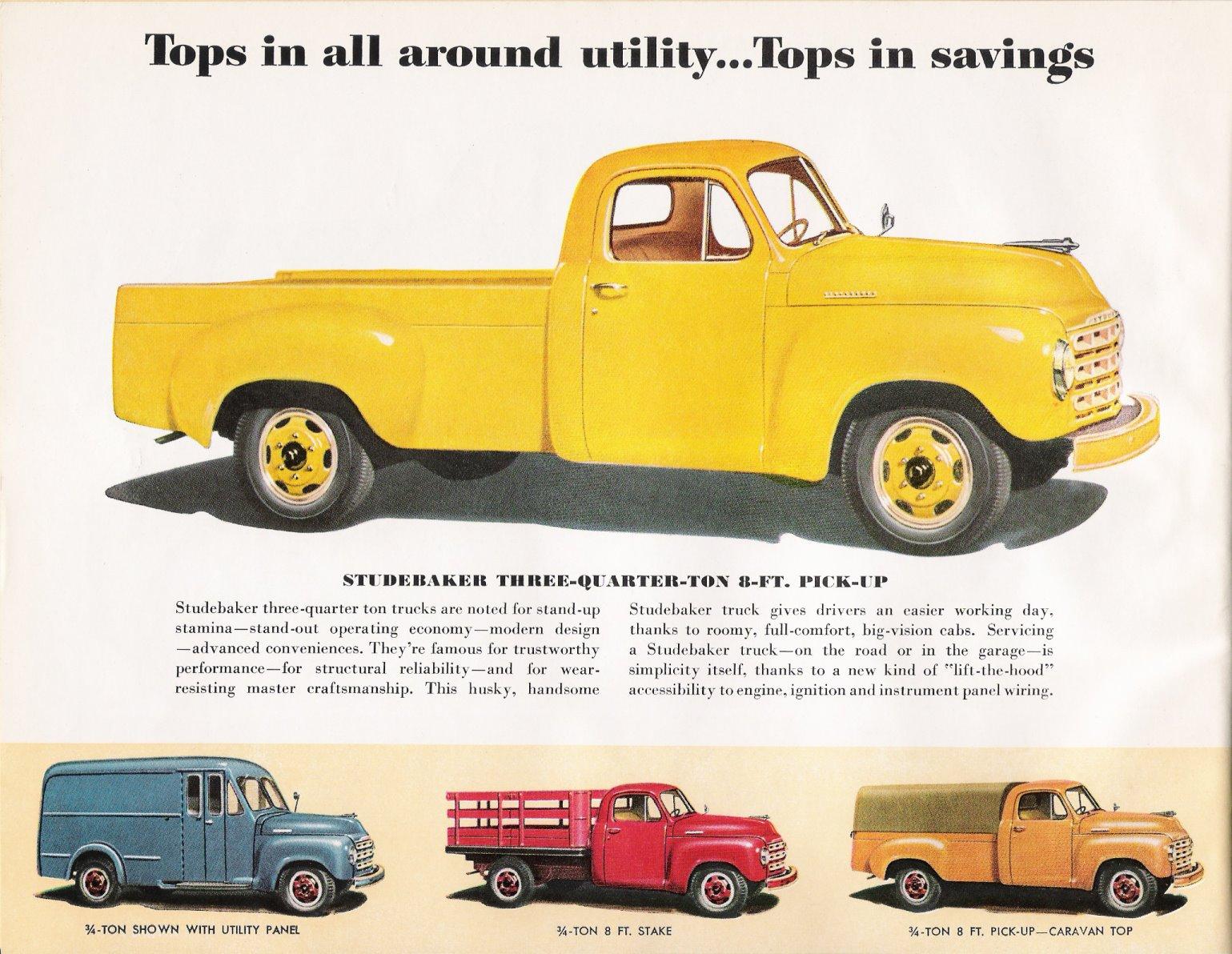 1950 Studebaker Truck Brochure