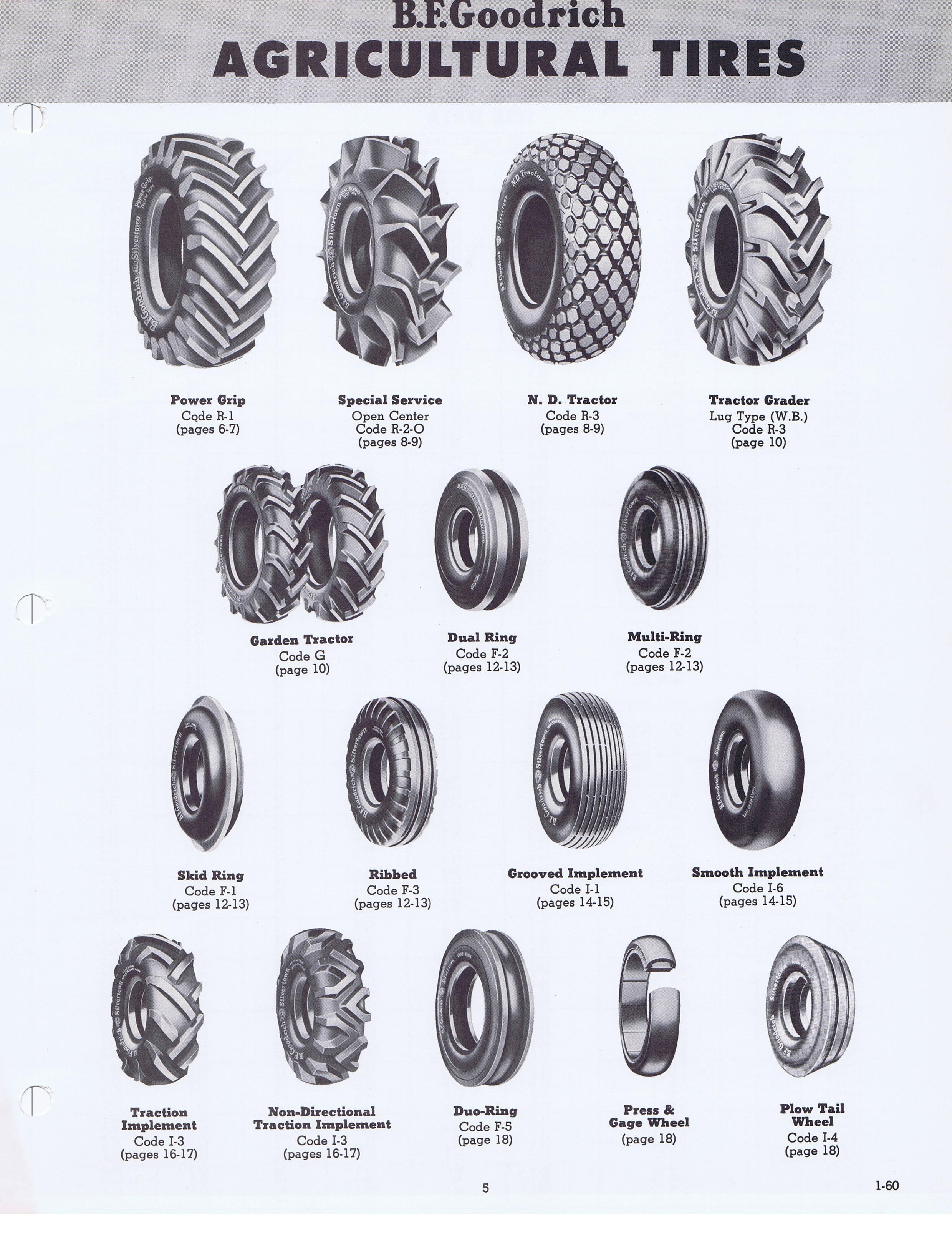 Bf Goodrich At >> 1960 BF Goodrich Agricultural Tires Engineering Data / BFG_Farm_1-60_Page_05.jpg