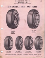 1966 Goodyear Passenger Car Tire Price List