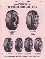 1967 Goodyear Passenger Tire Price List