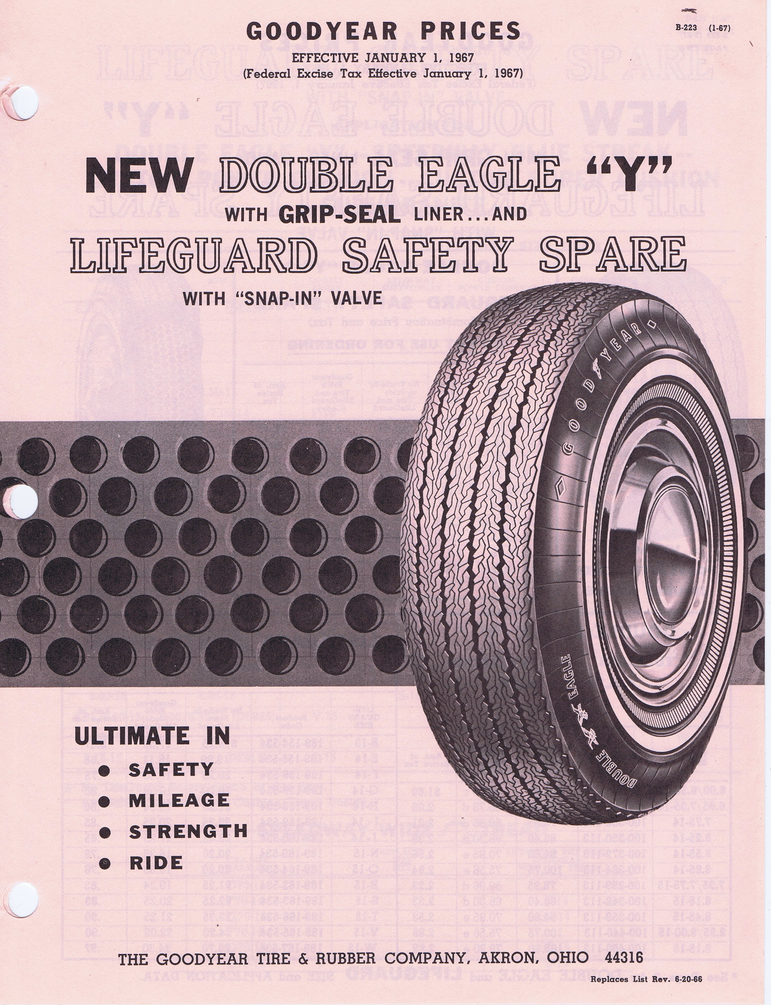 1967 Goodyear Double Eagle Prices / Goodyear_DoubleEagle ... Goodyear Tires