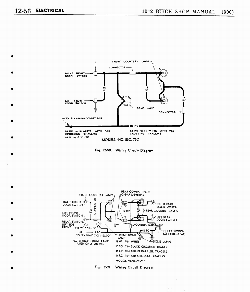 1941 Buick Wiring Diagram Library Ignition Circuit For The 1940 47 Cadillac All Models N 13 1942 Shop Manual Electrical System 056