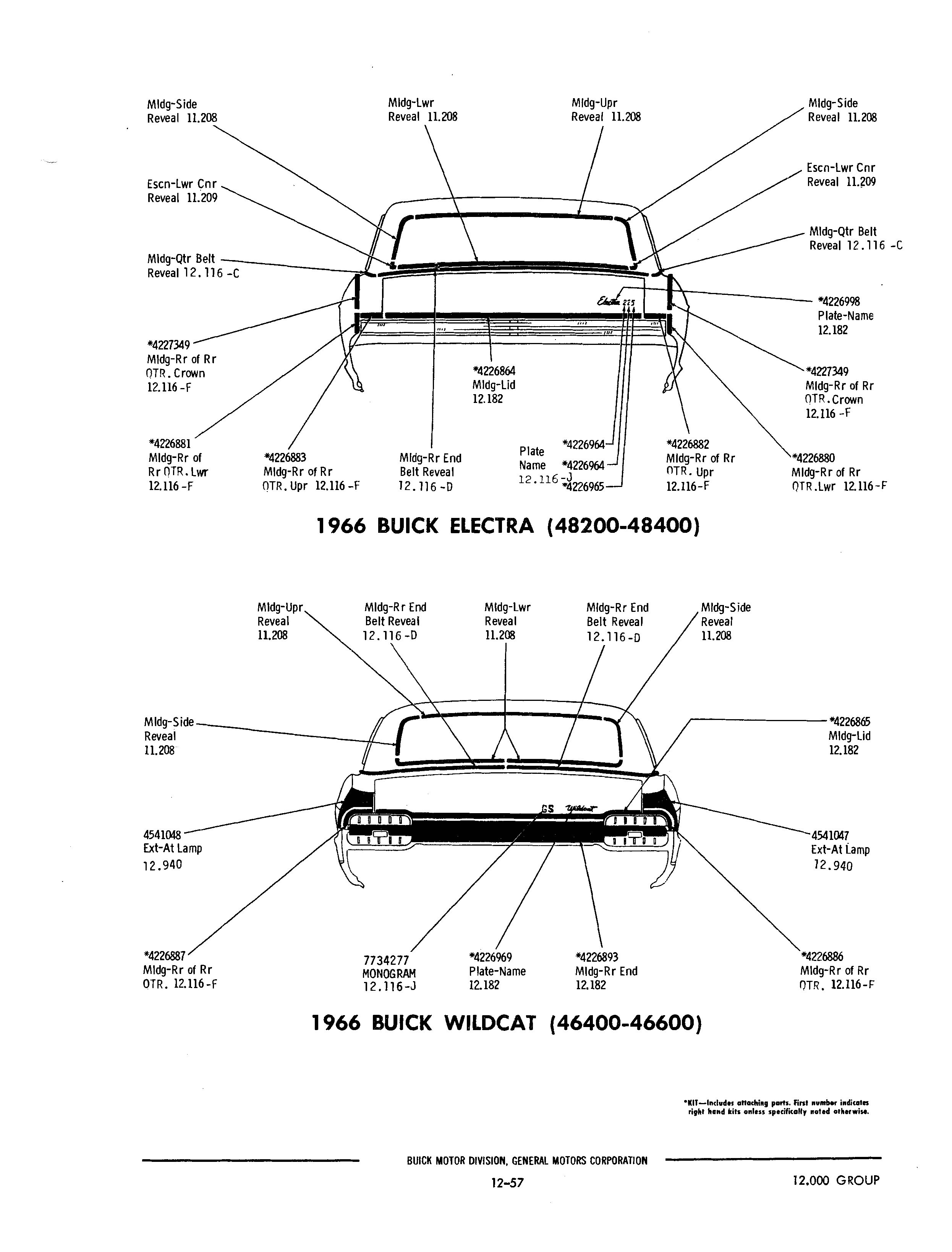 Buick 1940 1972 Parts Illustrations Buick Chassis And