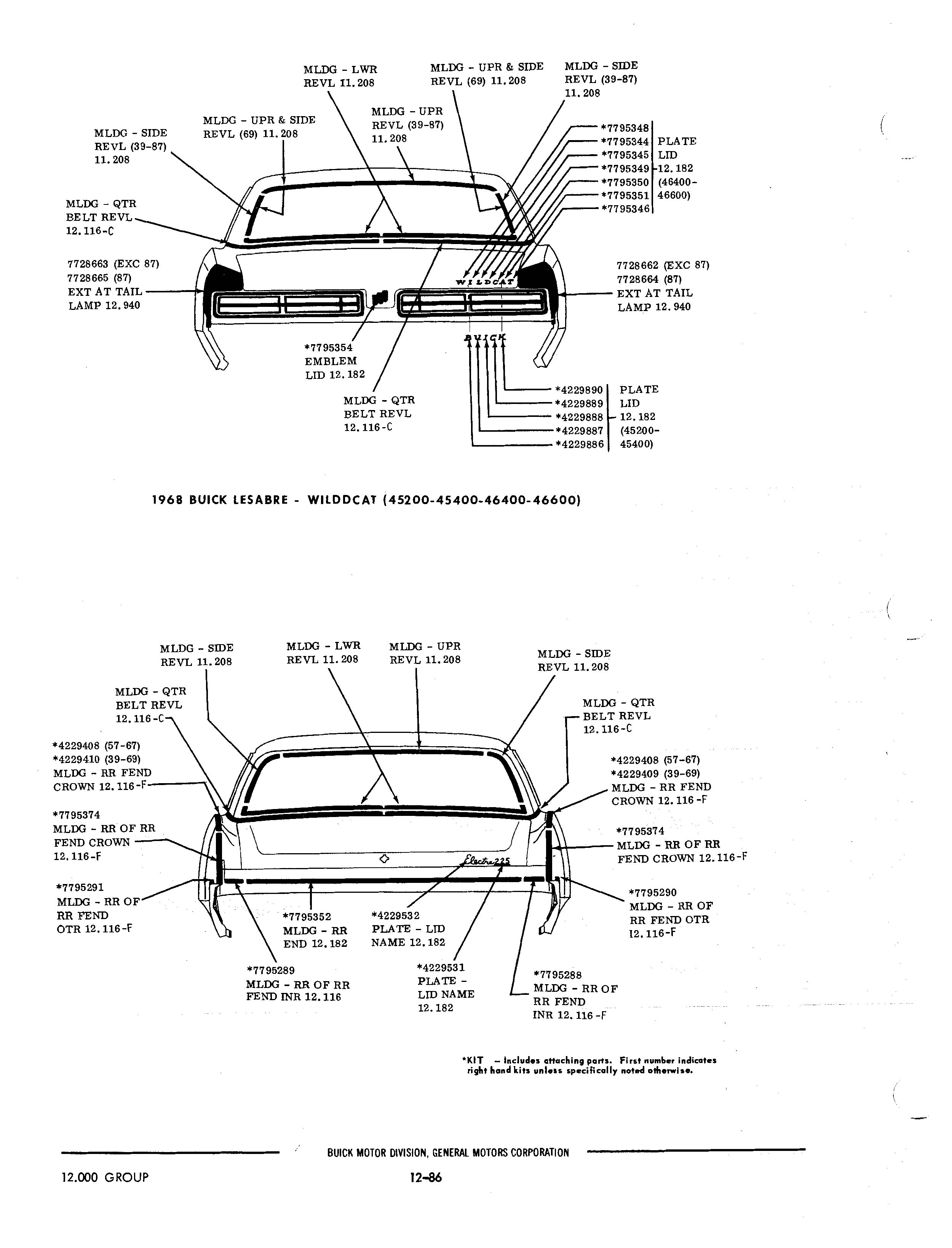 1972 mustang sheet metal diagram