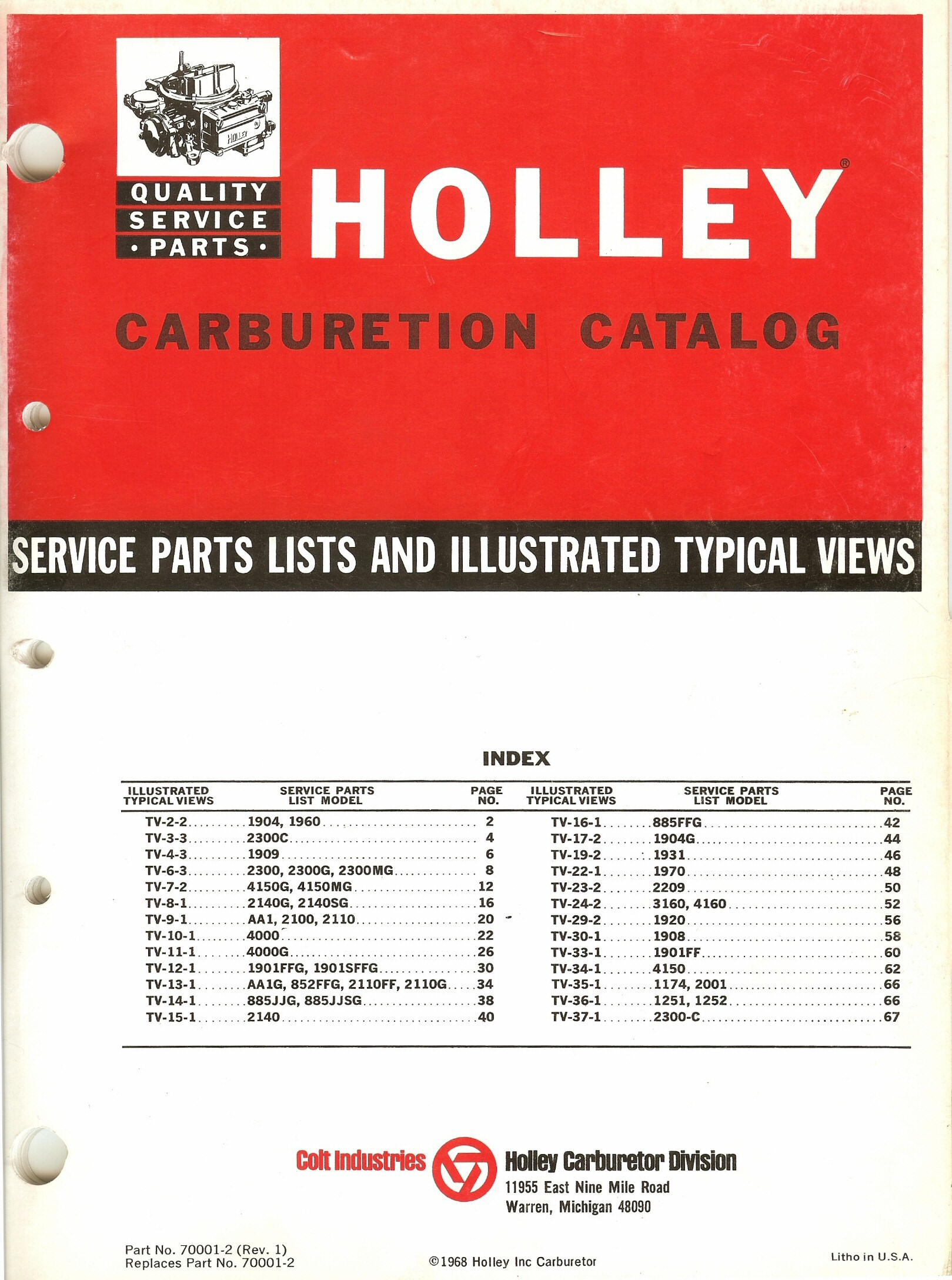 Holley Carburetor Exploded Diagrams - The Old Car Manual Project