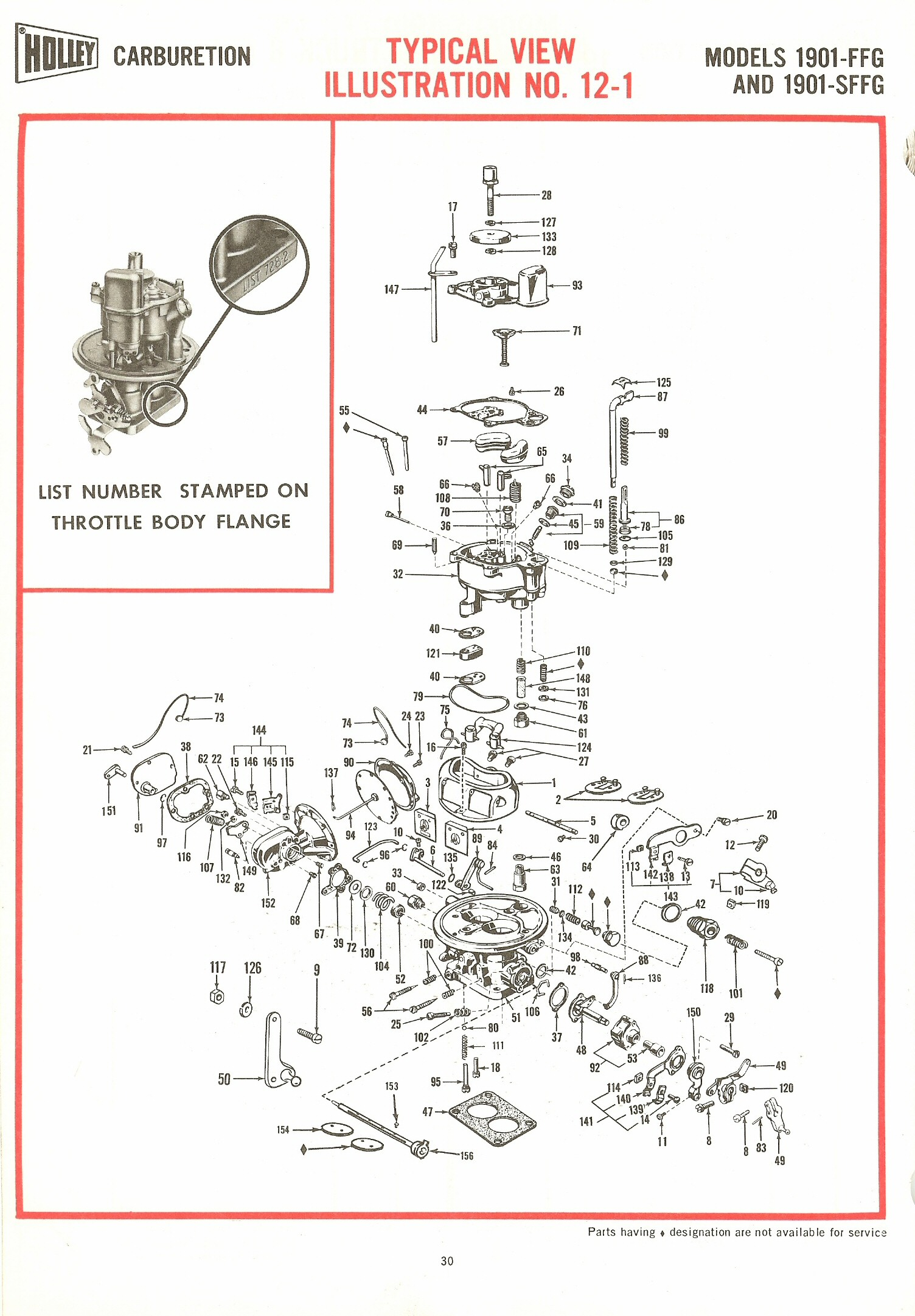 Holley 1901ffg And 1901sffg Exploded Diagrams