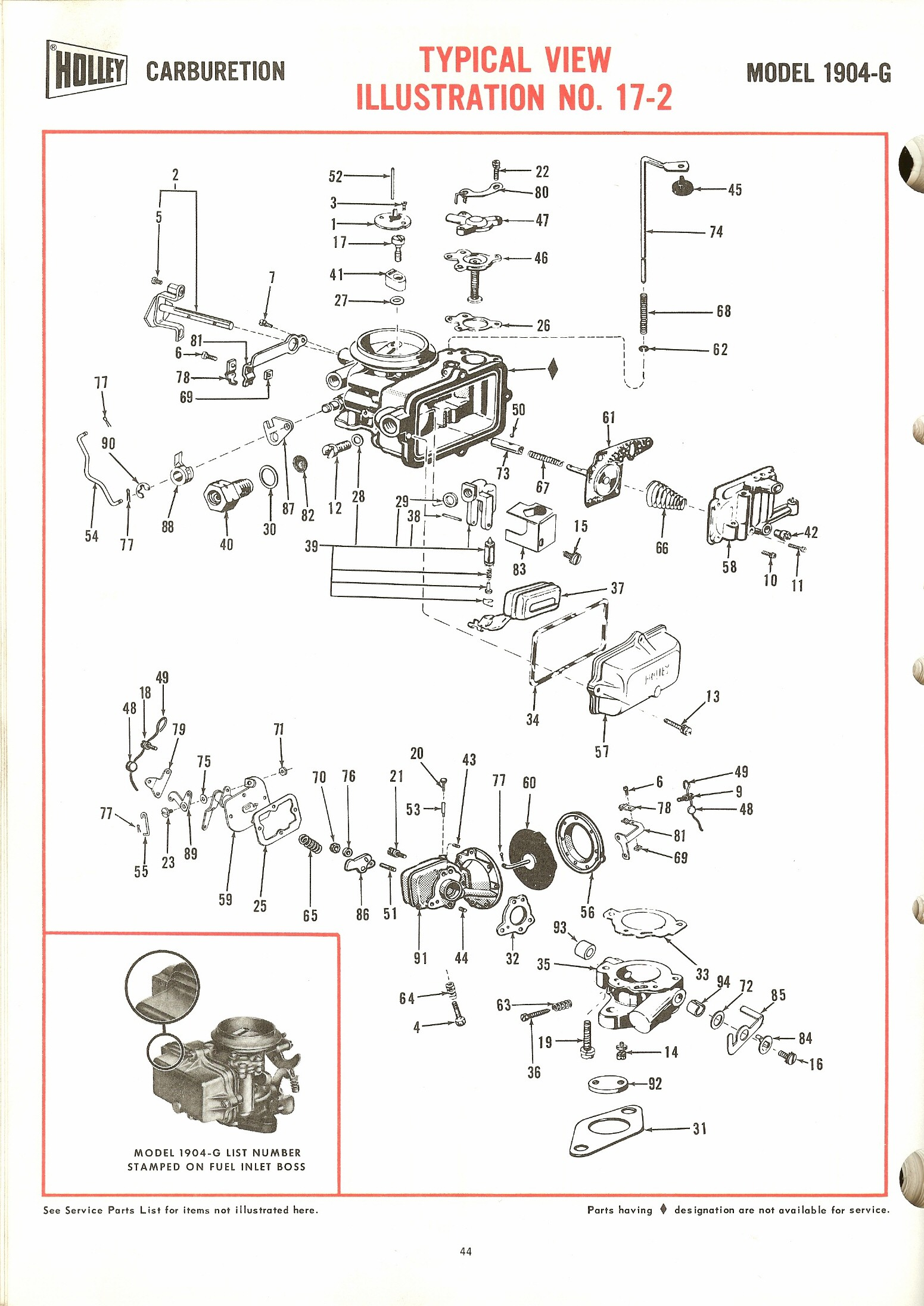 Holley 1904g Exploded Diagrams