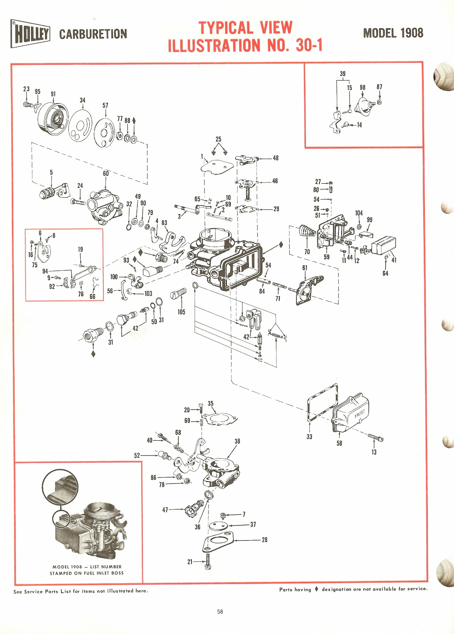 Holley 1908 Exploded Diagrams