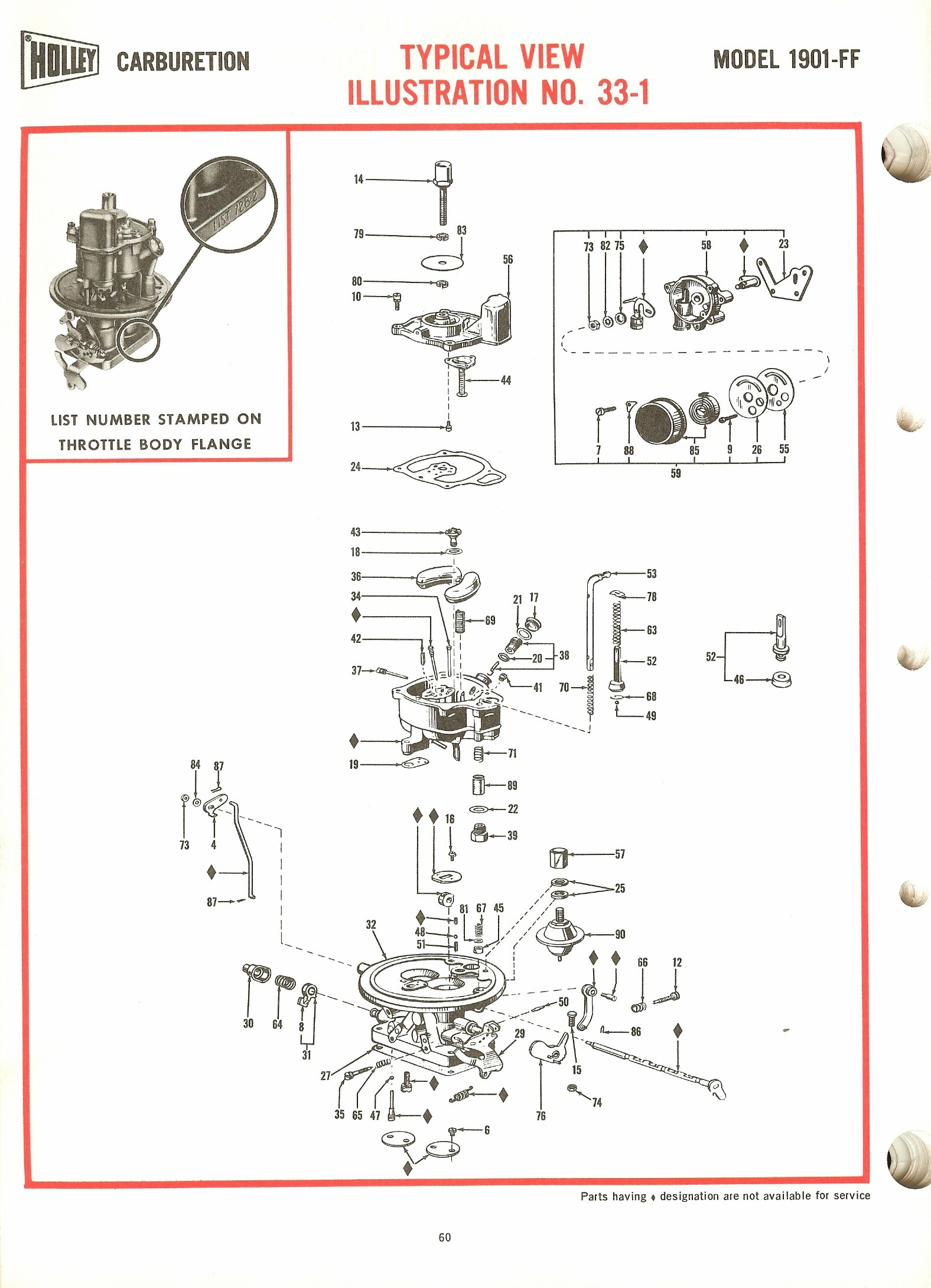 Holley 1901ff Exploded Diagrams