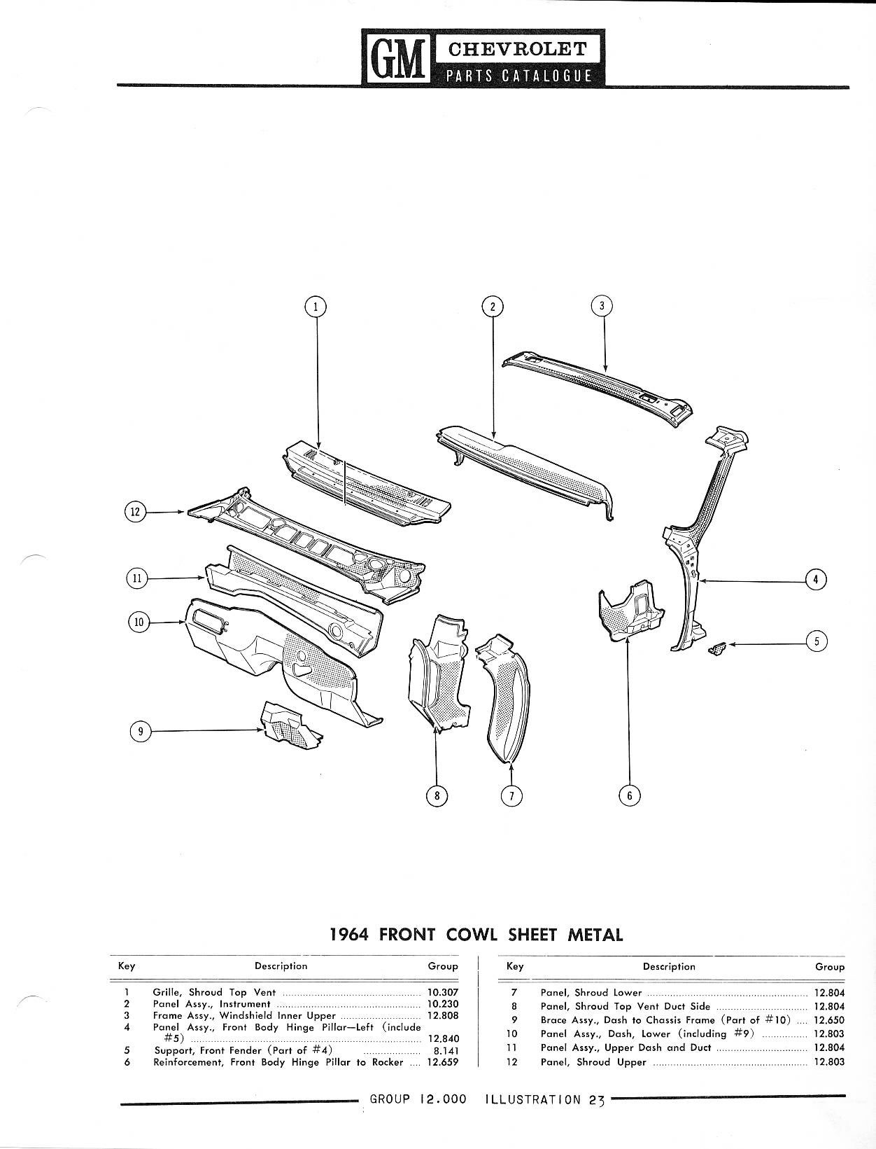 1958 chevrolet parts catalog