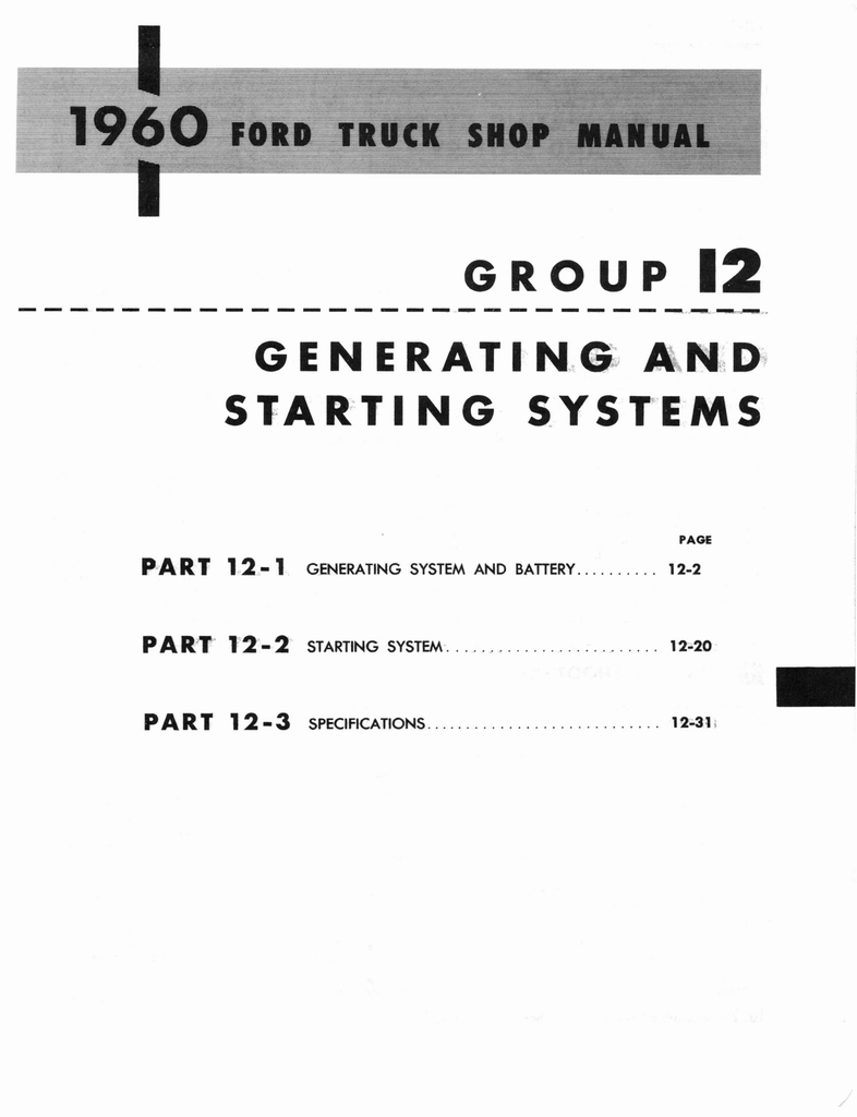 1960 Ford and Mercury Truck Shop Manual page 534 of 641
