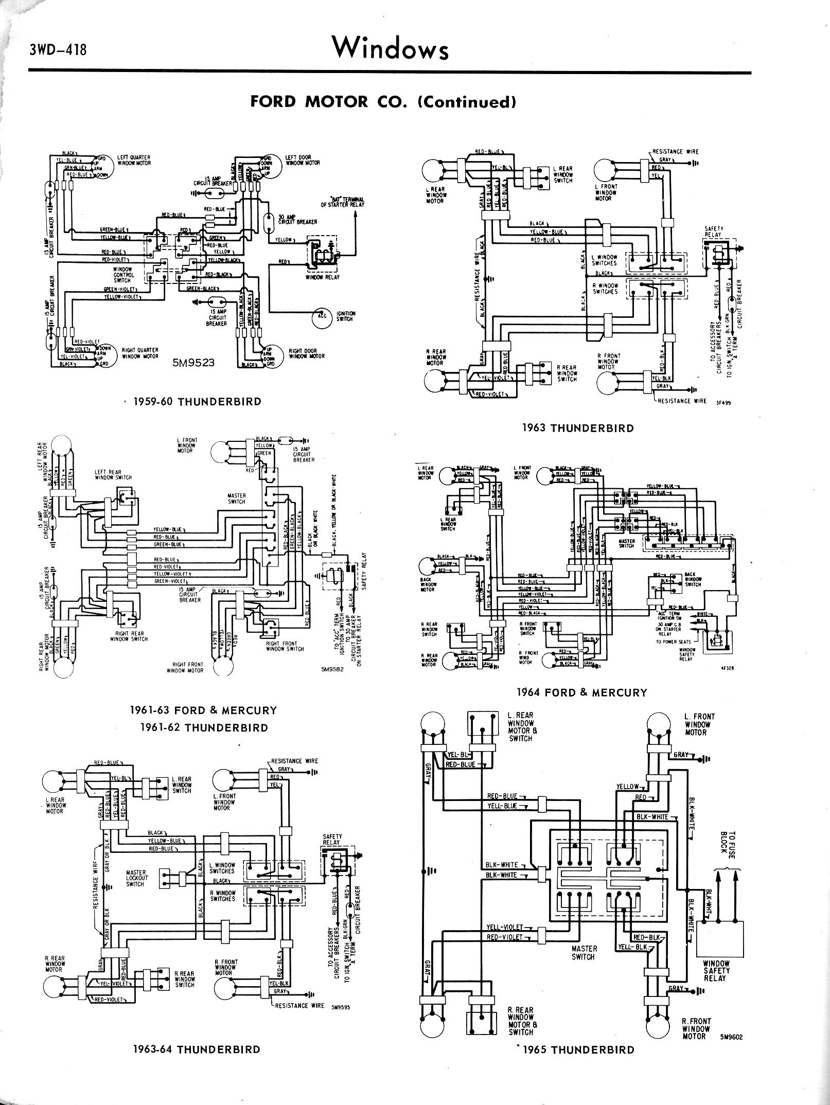 Wiring Diagram 1964 Thunderbird Accessories List Of Schematic For 57 1957 1965 Accessory Diagrams 3wd 418 Rh Oldcarmanualproject Com
