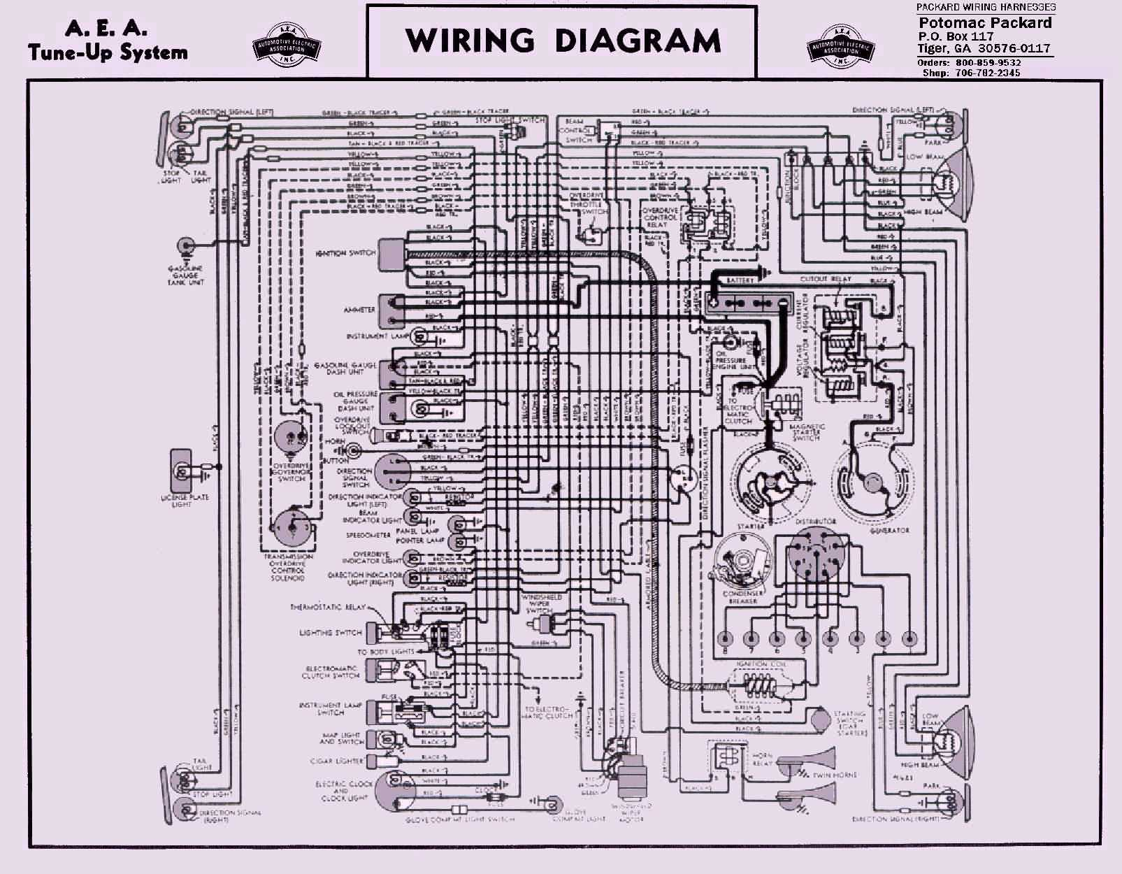 1946 47wiring 8cyl Clipper packard wiring diagrams the old car manual project packard wiring harness at n-0.co