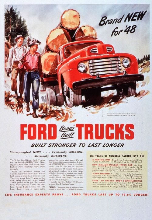 Ford Ads And Period Pictures 1948 Ford Truck Ad 01 Jpg