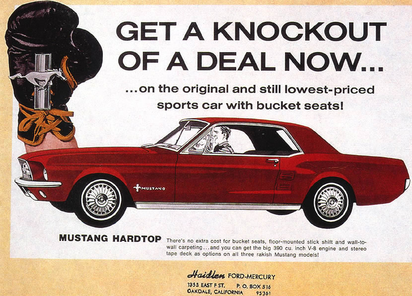 Old Ford Mustang >> Ford ads and period pictures / 1967FordMustang390CoupeAd.jpg