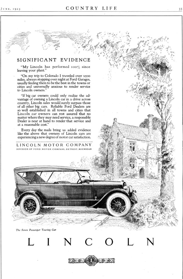 Lincoln Period Pictures The Old Car Manual Project