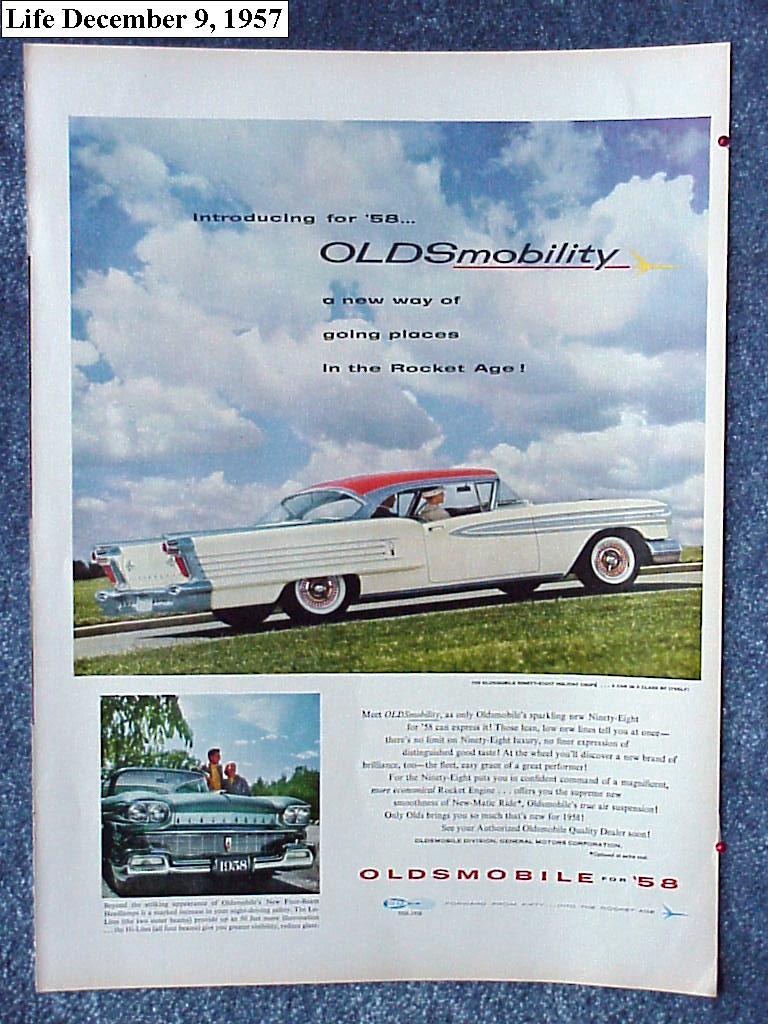 1958 Oldsmobile ad