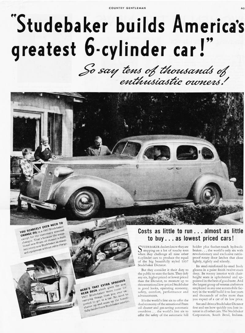 Studebaker Ads: The Old Car Manual Project