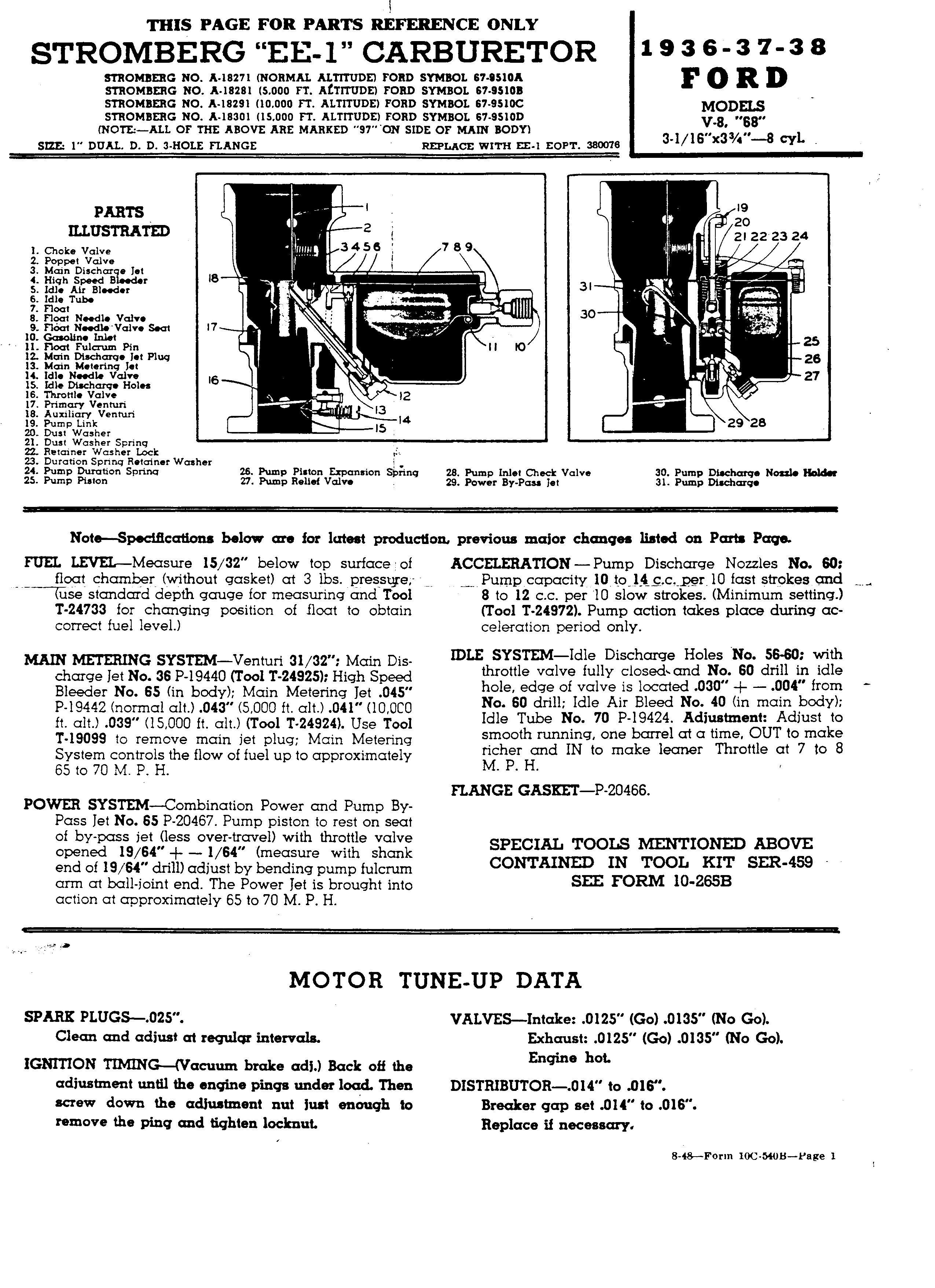 Stromberg EE-1 service info