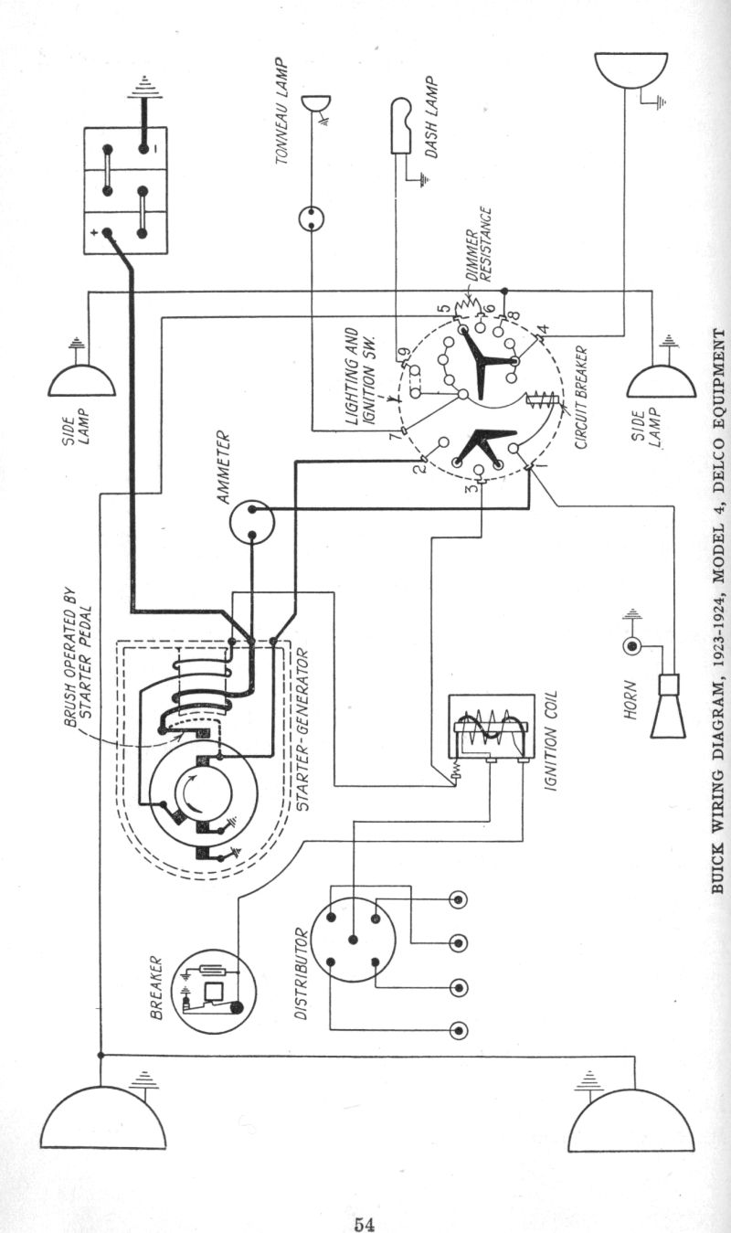 23 24BuickModel4 Right early 1920's apperson and buick wiring diagrams the old car 1927 ford model t wiring diagram at mifinder.co