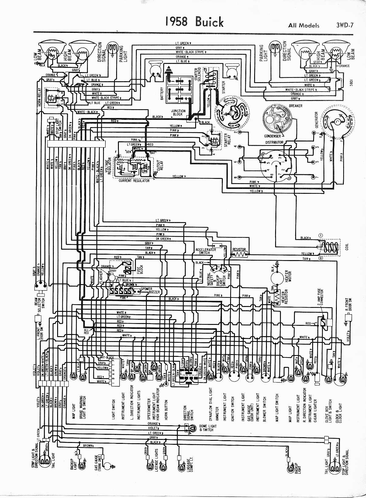 Wiring Diagrams Of 1960 Buick All Models Wire Data Schema 1957 1965 Rh Oldcarmanualproject Com 1952 Diagram Chevy