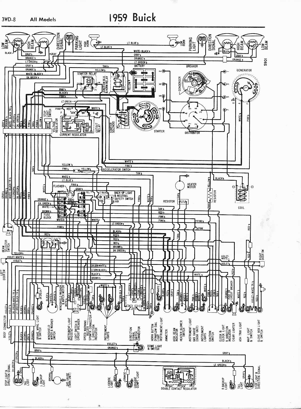 1960 Buick Wiring Diagram Schemes Stereo For 2003 Century Diagrams 1957 1965 Rh Oldcarmanualproject Com Lesabre