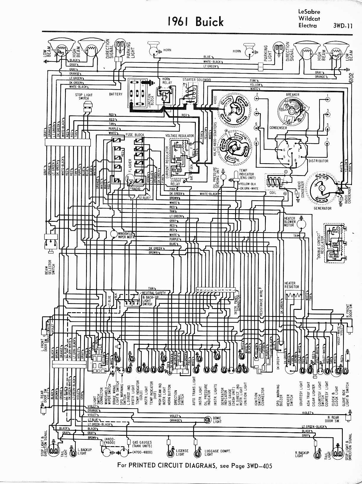 buick wiring diagrams 1957 1965 1953 buick engine wiring diagram 1961  lesabre, wildcat, electra