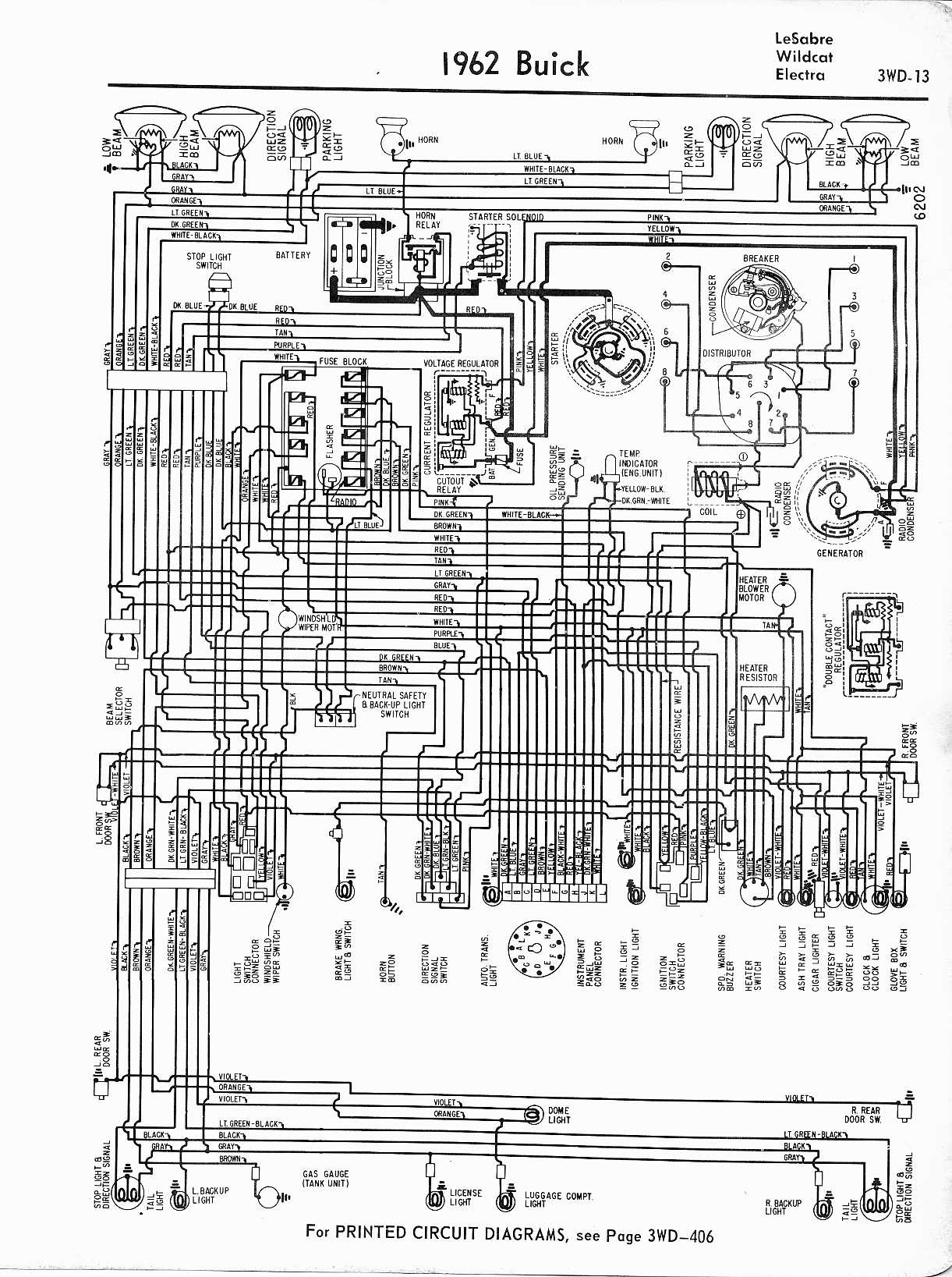 MWireBuic65_3WD 013 buick wiring diagrams 1957 1965 Basic Turn Signal Wiring Diagram at n-0.co