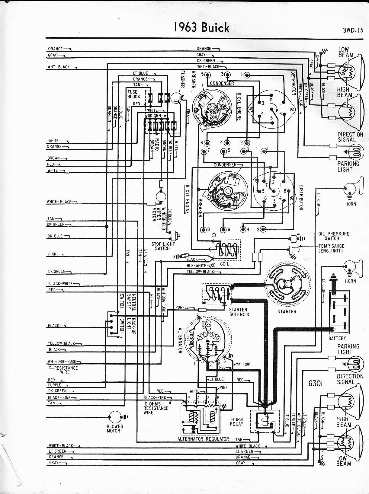 buick wiring diagrams 1957 1965 rh oldcarmanualproject com Jeep Wiring Harness Diagram 1965 Mustang Gas Gauge Wiring