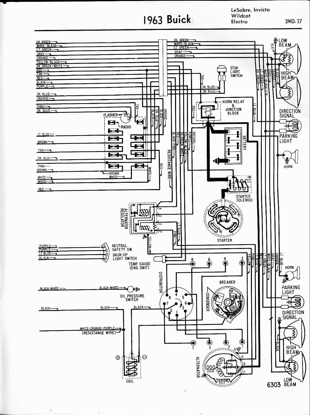 Buick Wiring Diagrams 1957 1965 2000 Century Diagram 1963 Lesabre Lnvicta Wildcat Electra Right Half